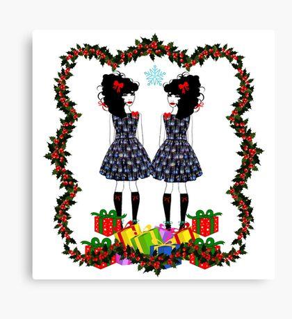 Lolita Whovian twins do Christmas Canvas Print
