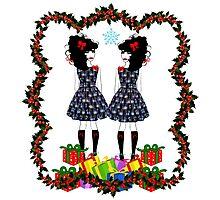 Lolita Whovian twins do Christmas Photographic Print