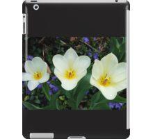 White Tulips and Vinca iPad Case/Skin