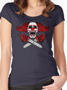 Clown and Chainsaws Women's Fitted Scoop T-Shirt