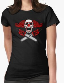 Clown and Chainsaws Womens Fitted T-Shirt