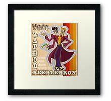 Vote Zaphod Beeblebrox Framed Print