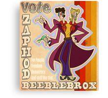 Vote Zaphod Beeblebrox Canvas Print