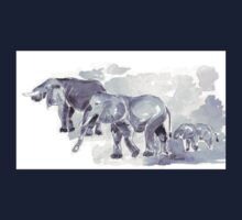 There are elephants marching... Kids Tee