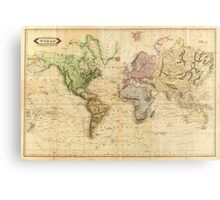 Vintage Map of The World (1831)  Metal Print