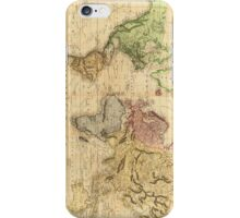 Vintage Map of The World (1831)  iPhone Case/Skin