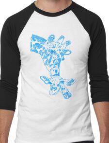 Giraffe Blue Men's Baseball ¾ T-Shirt