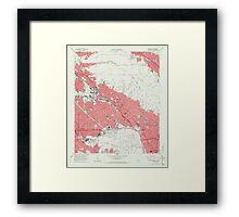 USGS TOPO Map California CA Burbank 302529 1966 24000 geo Framed Print