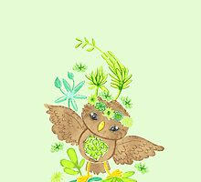 an owlet in the succulents by jazzydevil