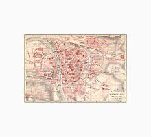 Vintage Map of Wurzburg Germany (1905) T-Shirt