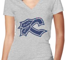 Cleveland Indians III Women's Fitted V-Neck T-Shirt