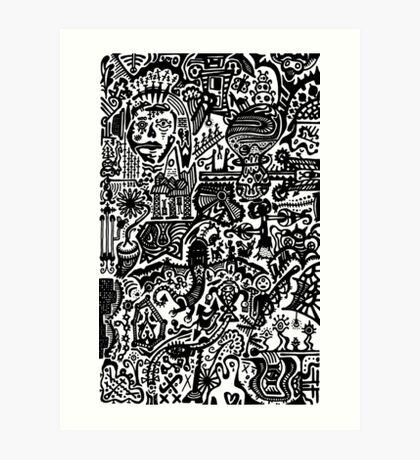 Inkworld Doodle Art Print