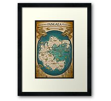 map of the supercontinent Pangaea Framed Print