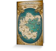 map of the supercontinent Pangaea Greeting Card