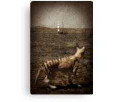 Tasmanian tiger and sailing ship Canvas Print