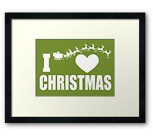 I love Christmas Framed Print