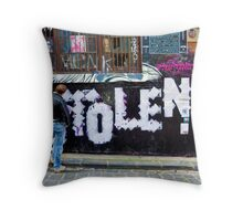 Stolen graffiti - Melbourne Australia Throw Pillow
