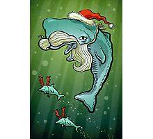Christmas Whale Photographic Print