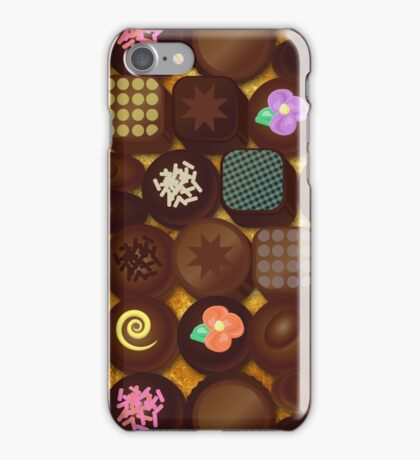 Inside A Box Of Chocolates In Gold iPhone Case/Skin