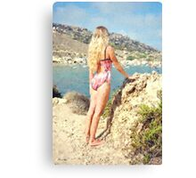 Looking Over The Bay Canvas Print