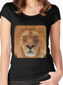 Male Lion Women's Fitted Scoop T-Shirt
