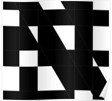 White shapes on black background  Poster