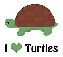 I Heart Turtles by Eggtooth