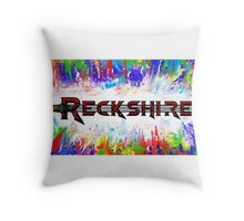 Reckshire with cool colors Throw Pillow