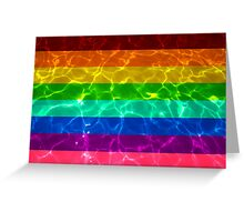 rainbow water Greeting Card