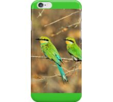 Bee-eater Greens - Mother and Chick of Spring iPhone Case/Skin