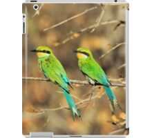 Bee-eater Greens - Mother and Chick of Spring iPad Case/Skin