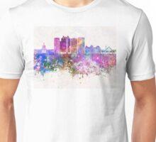 Edmonton V2 skyline in watercolor background Unisex T-Shirt