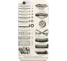 Retro cookbook pasta illustration iPhone Case/Skin