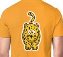 Leopard, Cartoon, Cute, Spotty, Big Cat, Yellow Unisex T-Shirt