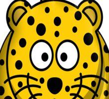 Leopard, Cartoon, Spotty, Big Cat Sticker