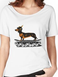 Dachshund Tank Commander Women's Relaxed Fit T-Shirt