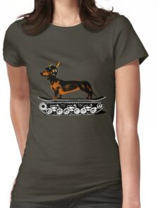 Dachshund Tank Commander Womens Fitted T-Shirt