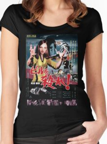 Kill Bill Japan Poster Women's Fitted Scoop T-Shirt