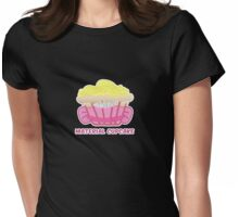 MATERIAL CUPCAKE parody Womens Fitted T-Shirt