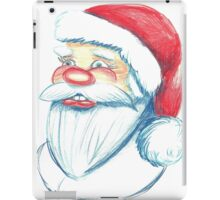 Hand drawn portrait of Santa Claus. Watercolor pencils illustration.  iPad Case/Skin