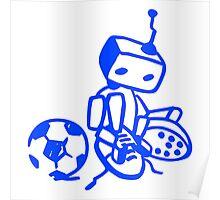 Robot soccer player Poster