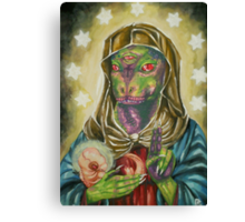 Blessed Reptilian Virgin and Child Canvas Print