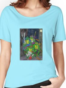 TMNT Rooftop Women's Relaxed Fit T-Shirt