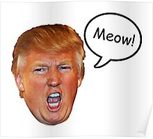 Trump Meow Poster