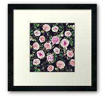 Floral Dark Pattern Framed Print