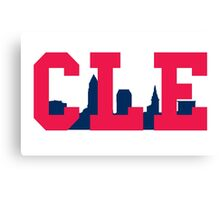 CLE - Skyline (Indians) Canvas Print