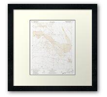 USGS TOPO Map California CA Borrego Mountain 288558 1960 24000 geo Framed Print