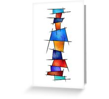 Esseniumos V1 - square abstract without back Greeting Card