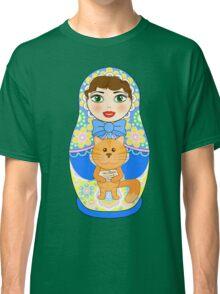 Russian doll matryoshka. Russian souvenir, tradition. Classic T-Shirt