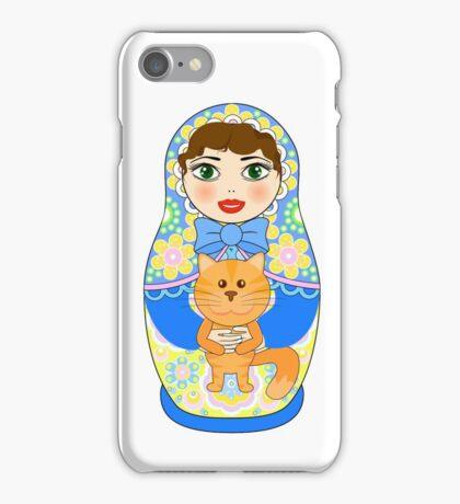 Russian doll matryoshka. Russian souvenir, tradition. iPhone Case/Skin